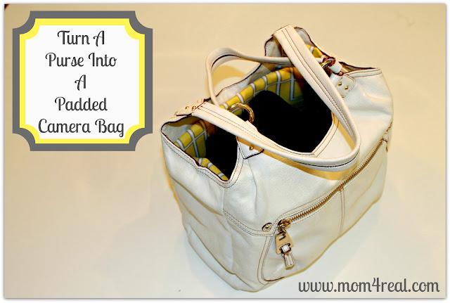 Purse Turned Camera Bag at www.mom4real.com