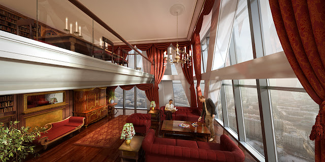 Rendering of Russia Tower apartment interior