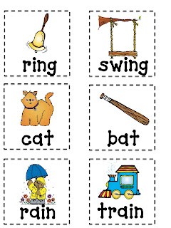 Adorable image in rhyming flash cards printable