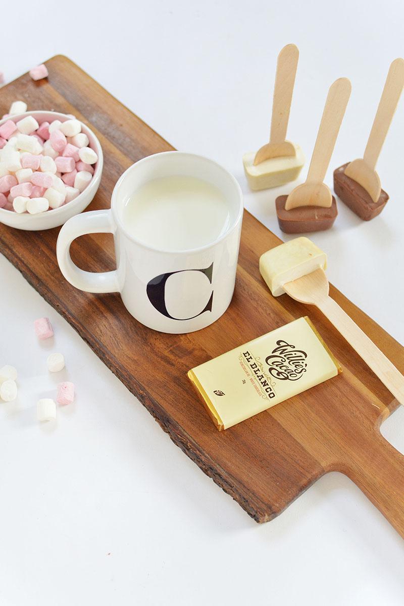 hot chocolate stirrer DIY