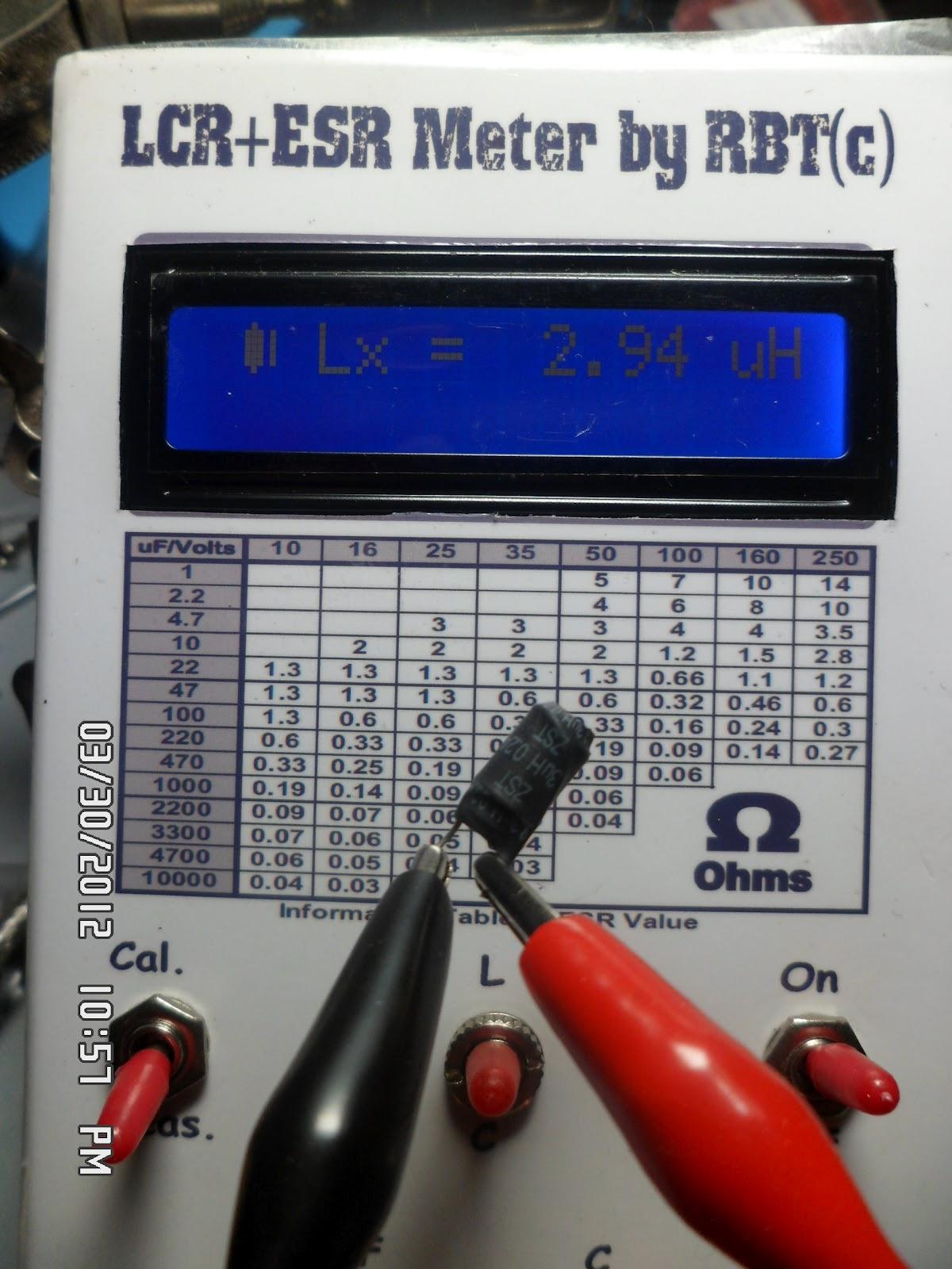 Diy Lcr Meter : Rbt s tech depot diy lcr esr meter