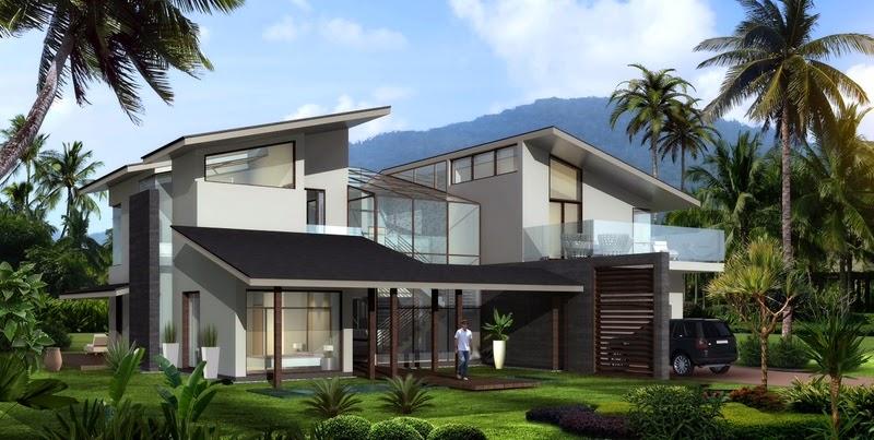 konsep rumah mewah
