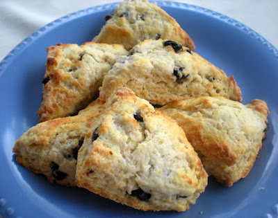 Scones with Meyer lemon and blueberries. Lucy Mercer/A Cook and Her ...