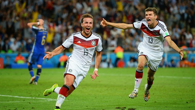Germany player Mario Goetze goal in world cup final