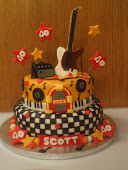 Rock and Roll 40th scott Cake