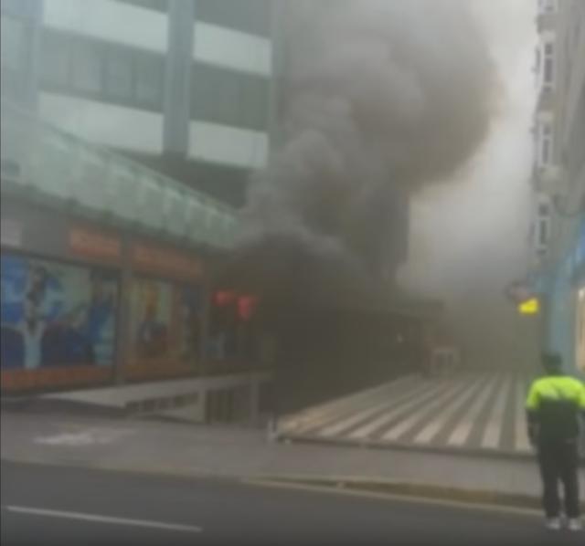 fotos videos espectacular incendio mesa y lopez juan manuel duran las palmas gran canaria