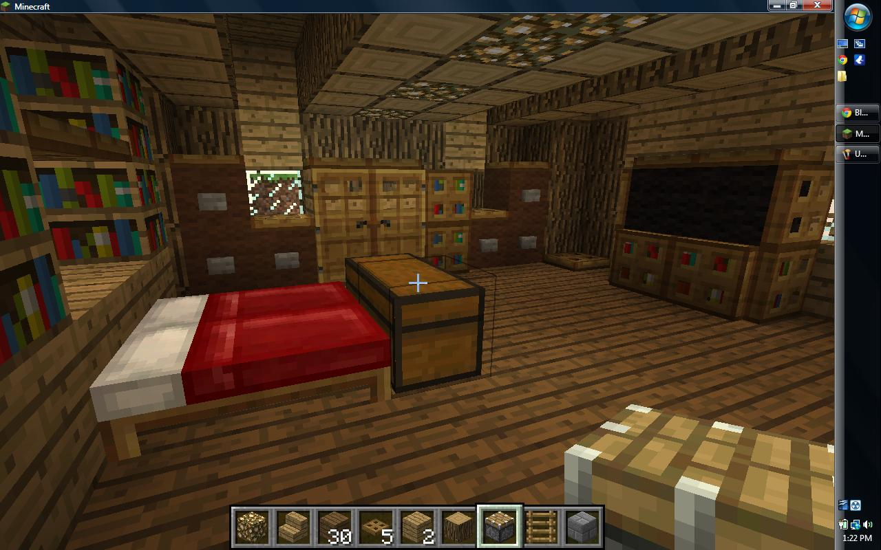 Minecraft bedroom ideas xbox for Bedroom ideas on minecraft