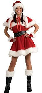 Velvet Miss Santa Adult Costume