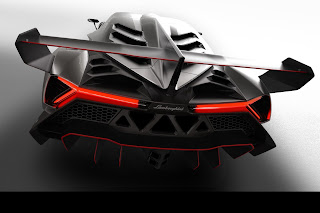Lamborghini Veneno rear view