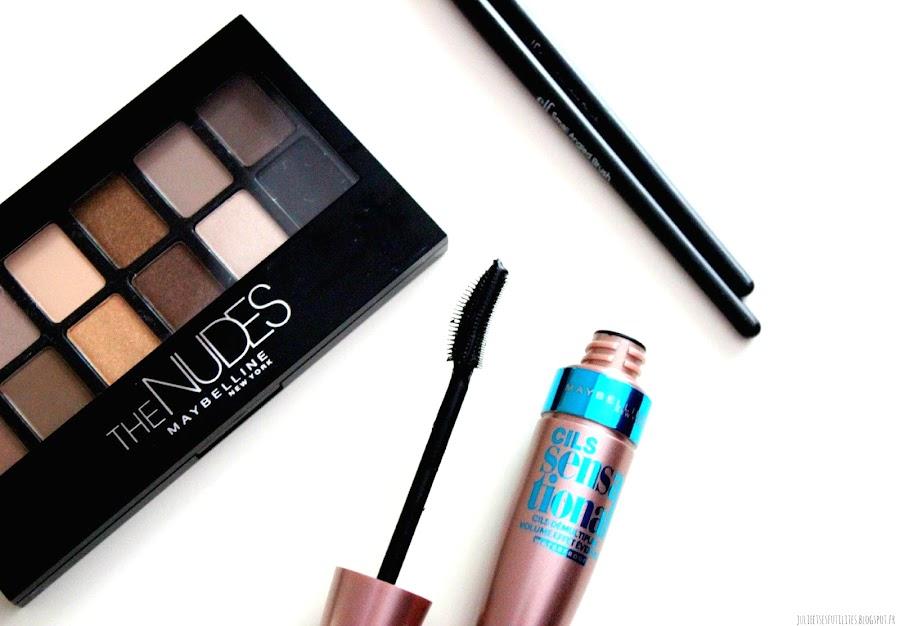 Revue et makeup nouvelle palette TheNudes Maybelline