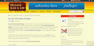 pengertian template blog