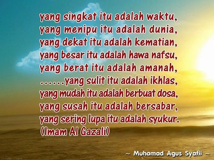 Pesan Imam Al Gazali