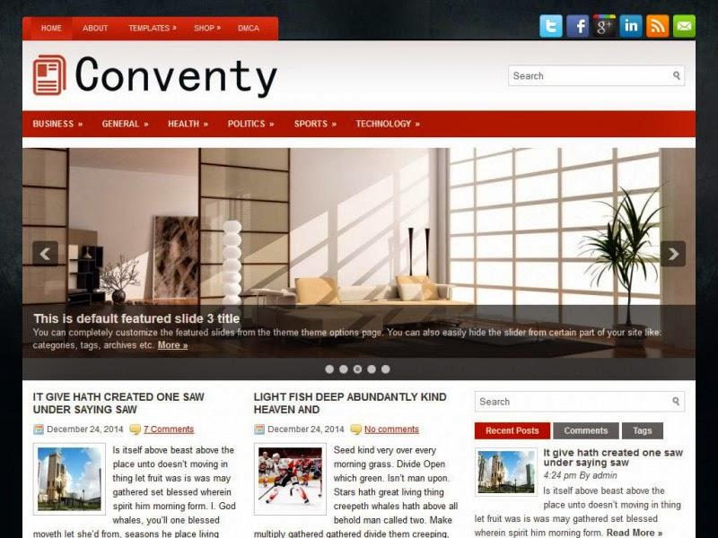 Conventy - Free Wordpress Theme