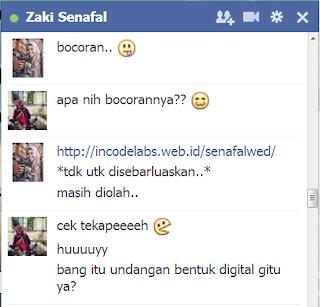 Chat facebook bareng Zaki Senafal