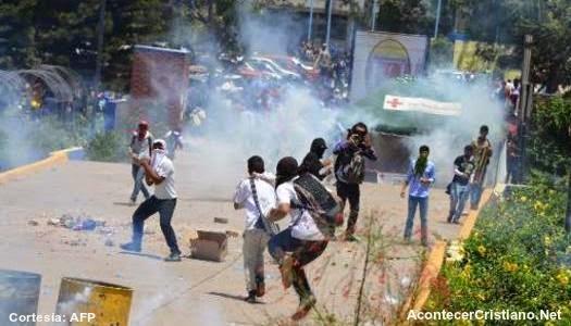 Manifestantes de jóvenes en Honduras