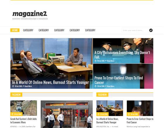 Simplex Magazine 2 Blogger Template