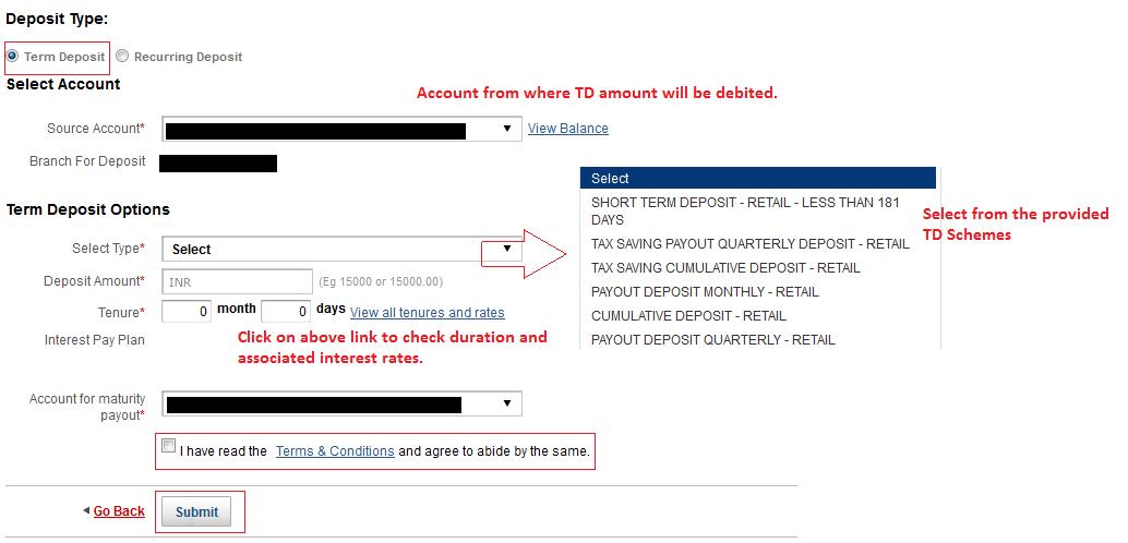How To Open Term Deposit Td Account In Kotak Mahindra