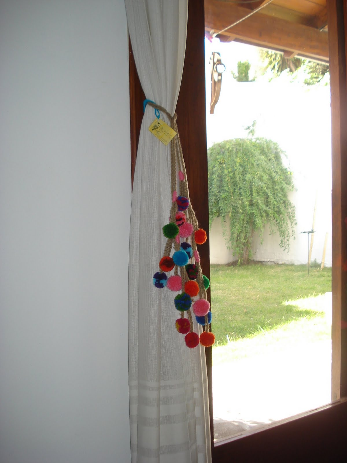 Ojos del buho otro buho bordado a mano lazos para - Lazos para cortinas ...