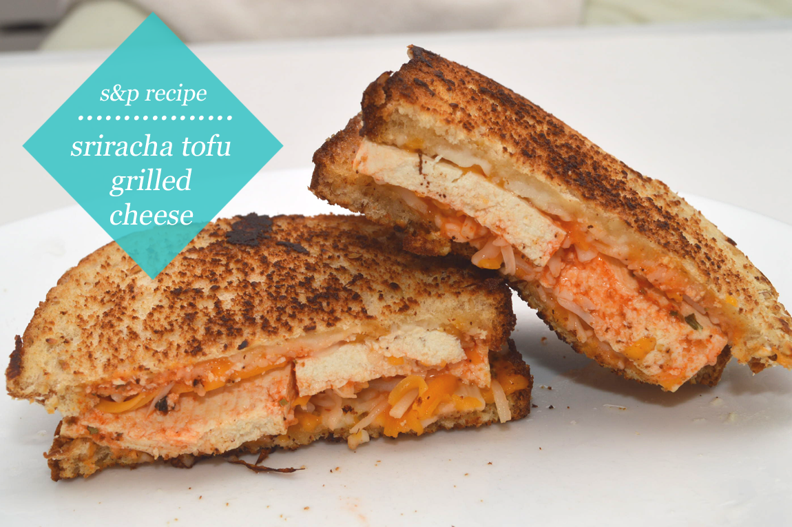 studs and pearls: foodie moment: Sriracha Tofu Grilled Cheese