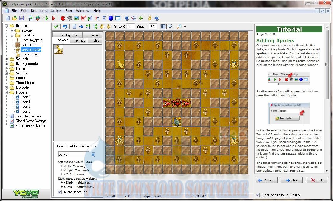 Game maker как сделать интерфейс