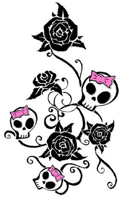 Girly Skull Tattoo Designs