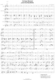 Ya llegó Navidad de A. Hernández y M.J. Abellán Partitura de Villancicos para Orquesta de Cuerdas y Voz. Partituras de creación propia por Antonio Colaborador en diegosax