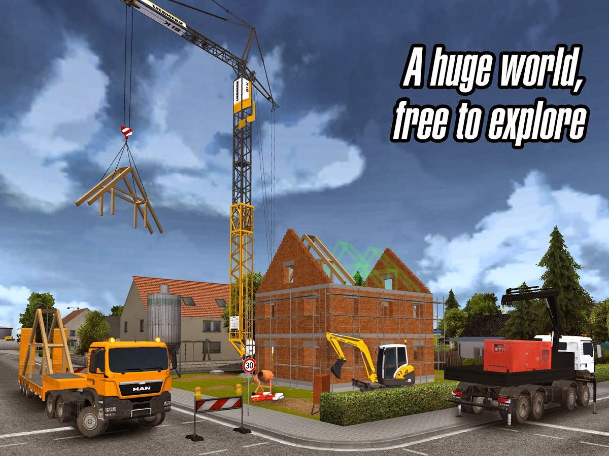 Construction Simulator 2014 APK + DATA Android Game Free Download
