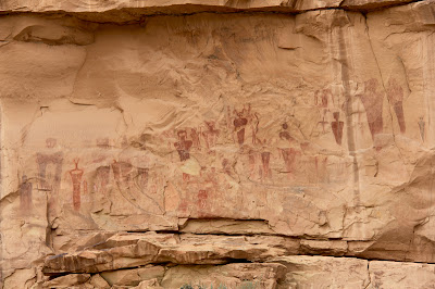 The spooky panel of Barrier Style pictographs found in Sego Canyon.