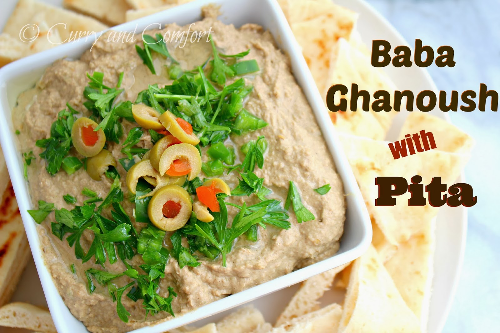Curry and Comfort: Baba ghanoush (Vegetarian Eggplant Dip)