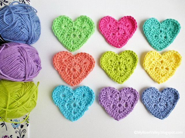 Easy Crochet Patterns : My Rose Valley: Sweet Heart Crochet Pattern