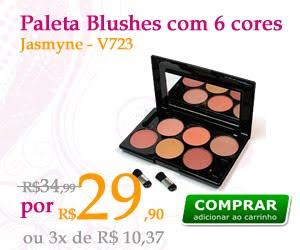 Paleta de Blushes 6 cores