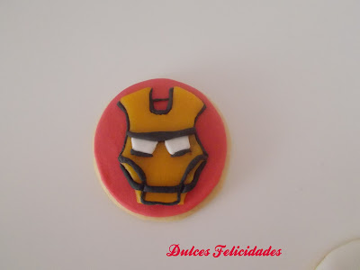 Galletas Iron Man fondant