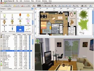 صورة من داخل برنامج تصميم اثاث المنزل