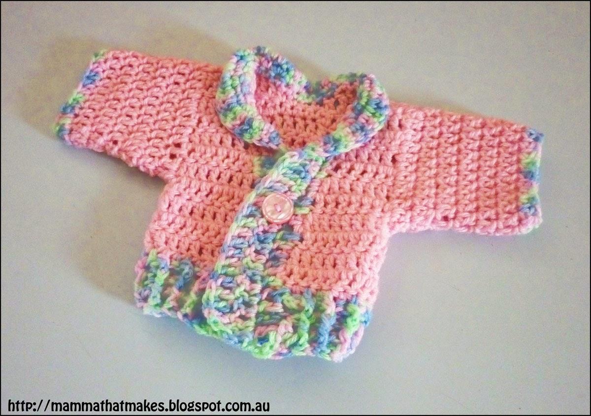 Mamma That Makes: Ribbed Prem Jacket - Free Crochet Pattern