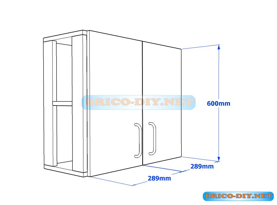 Muebles de cocina plano de alacena de melamina esquinera for Muebles de cocina 1 metro