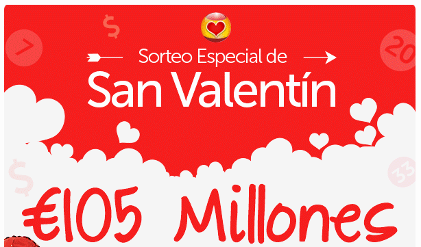 loteria nacional de españa san valentín enamorados