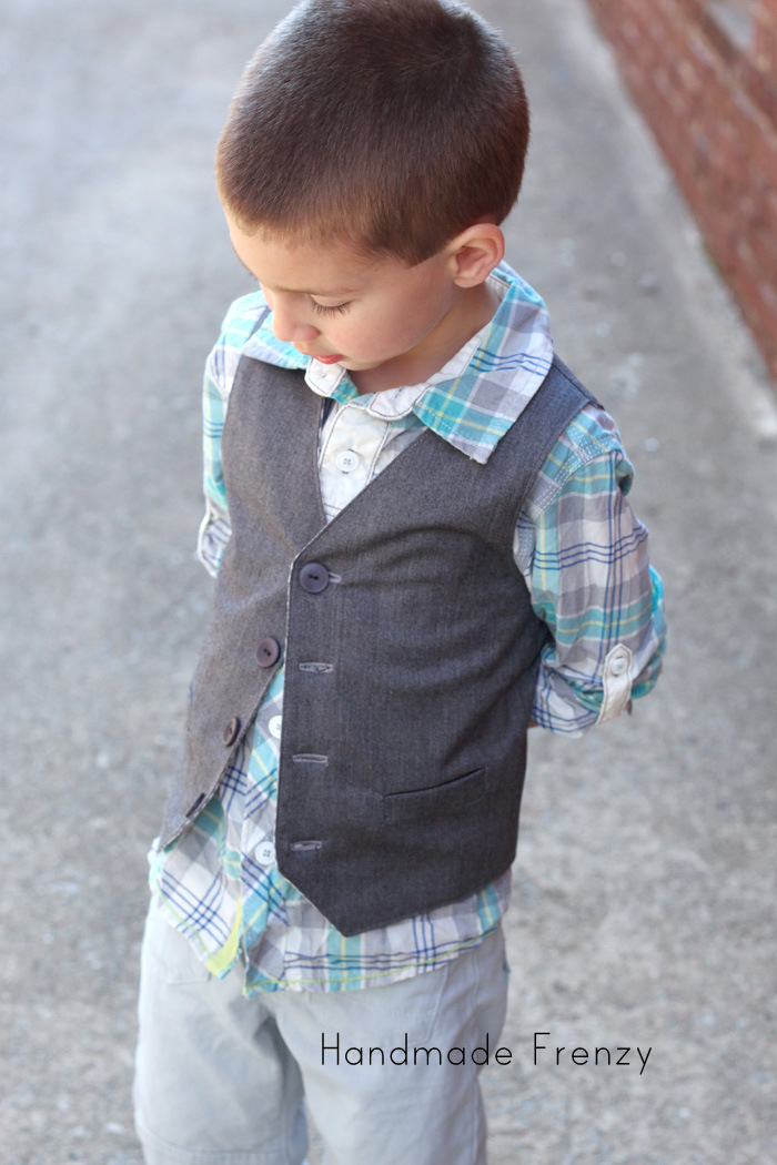 School Boy Vest - Pattern by Sew Much Ado
