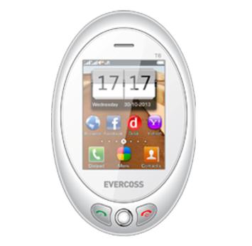 touchscreen. Ponsel ini berbentuk oval dengan dimensi 102.8 x 66.7 x