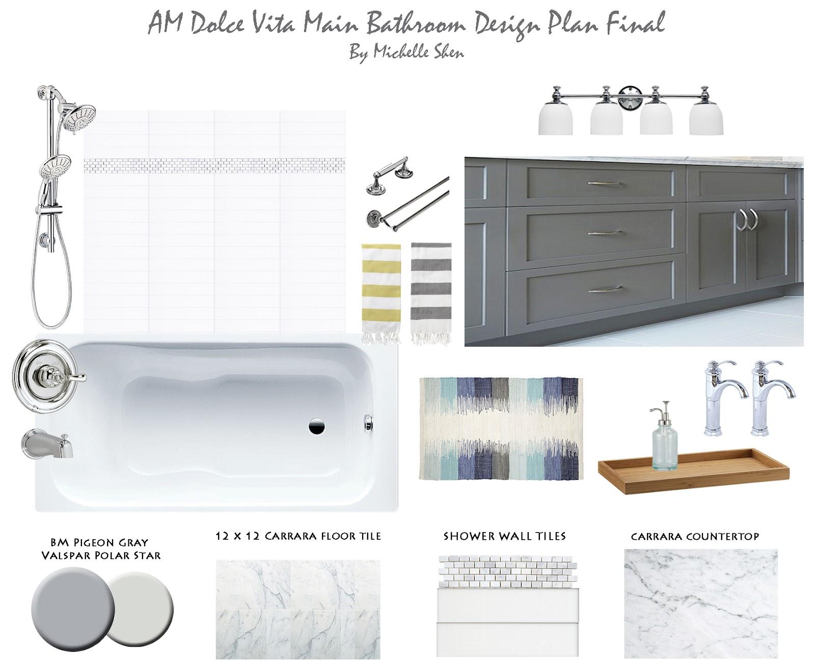 Target Bathroom Sconces am dolce vita: bathroom reno on a budget