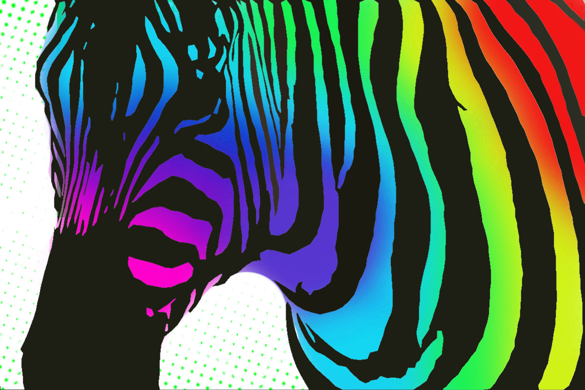 Free Coloring Pages Of Zebra Print Letters