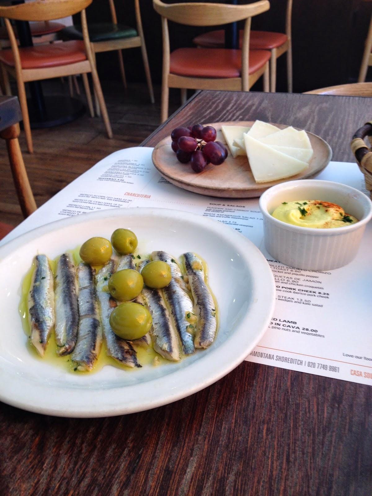 Casa Brindisa anchovies