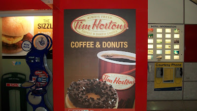 There's actually a Tim Hortons vending machine in the Manchester airport!