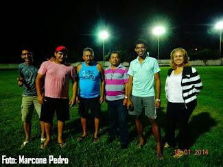Prefeito Edval Bezerra de Senador Georgino Avelino visitou o Estádio O Batistão na noite desta quar