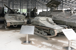 Italian CV33 Light Scout Tank and Canadian Flame Tank at the China Military Museum