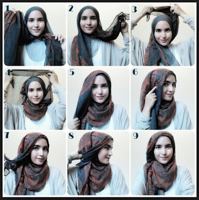 Tutorial Hijab Casual
