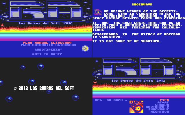 Robot Nation para Commodore64, la despedida de Los Burros del soft
