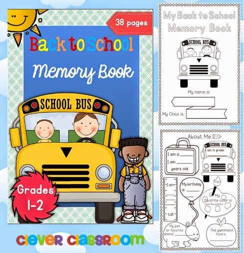 Back to School Memory book for first and second graders