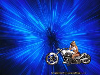 Harley Davidson Babes Wallpapers Bikes Beautiful Blonde Babe in Vortex Space Wallpaper