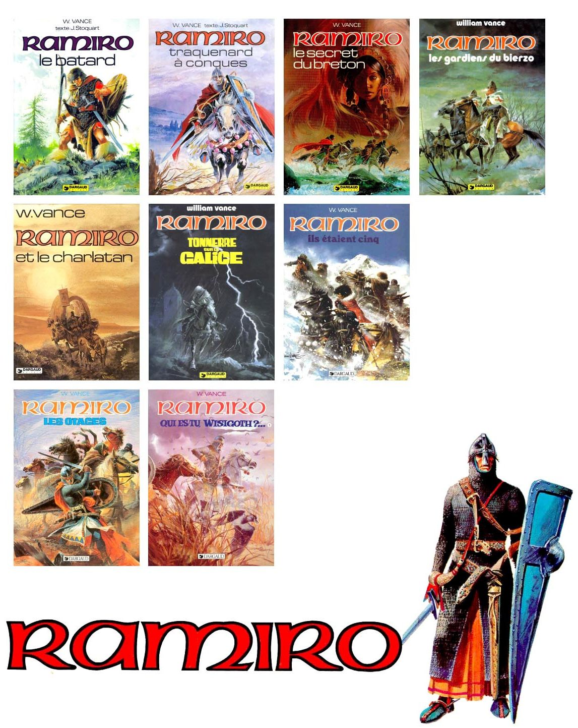 Ramiro. William Vance & Jacques Stoquart. 9 tomes + HS