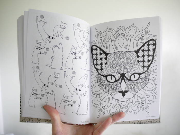 The Book Itself Is Around A5 Size And Has A Different Beautiful Cat Inspired Design On Each Page With Some Spread Out Over Two